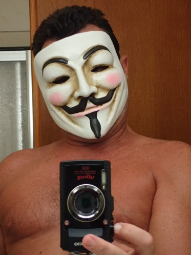 Faaker See, Maske, Guy Fawkes, V wie Vendetta, Fifth of November, Gunpowder Plot, Bonfire Night, Anonymus, Lächeln