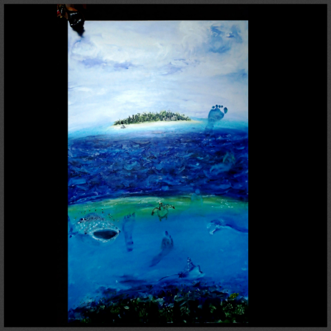 Maldives, Footprints, Baby, Whale Shark, Manta Ray, Turtle, Reef Shark, Eagle Ray, Fruitbat