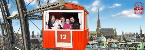 Wien, Österreich, Europa, Riesenrad, Prater, Familie, Liebe, Kind