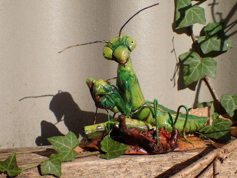Praying Mantis, Wedding, Cannibalism, Male, Meal, Super Sculpey