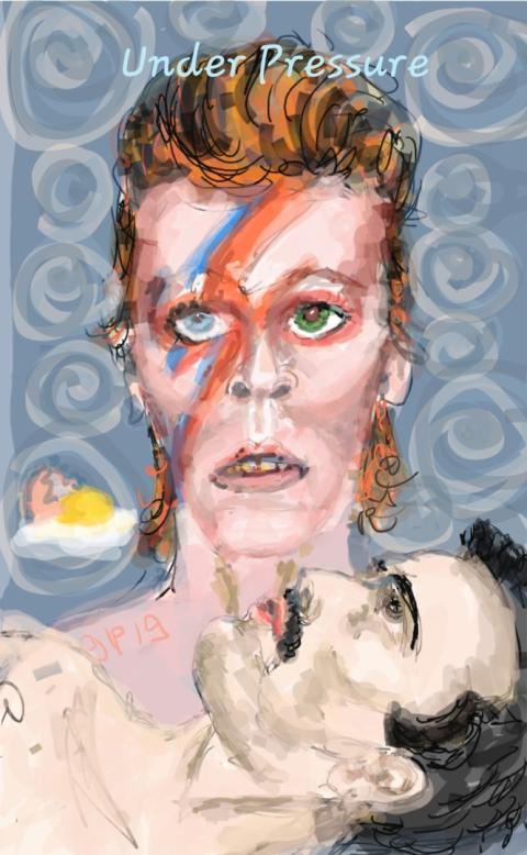 Queen, David Bowie, Freddie Mercury, Rock, Pop, Stars, Legends
