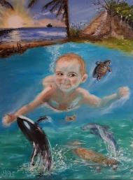 Baby, Unterwasser, Karibikkreuzfahrt, Paradies, Sea Aquarium