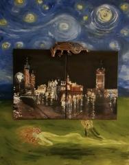 Silent Night, Krakow, Weihnachten, Drache, Nachthimmel, Wasserschlangen, Schrei