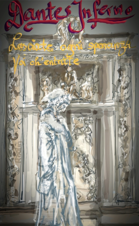 Dante Alighieri, Inferno, Göttliche Komödie, Rodin, Denker, Höllentor