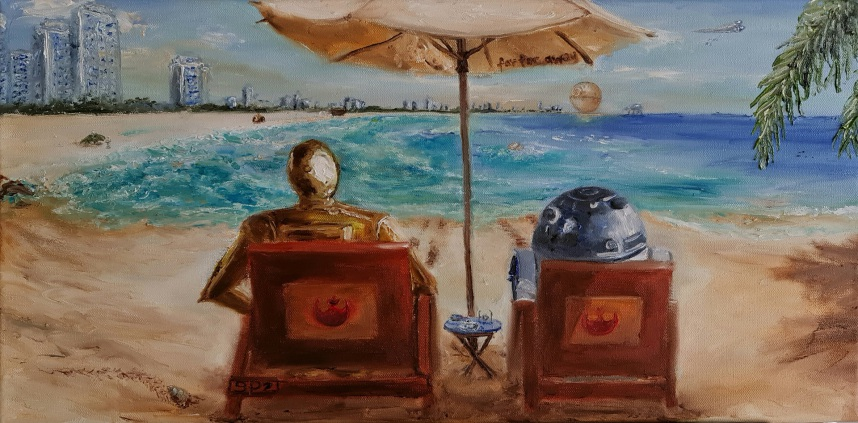 Star Wars, Miami South Beach, R2-D2, C-3PO, George Lucas