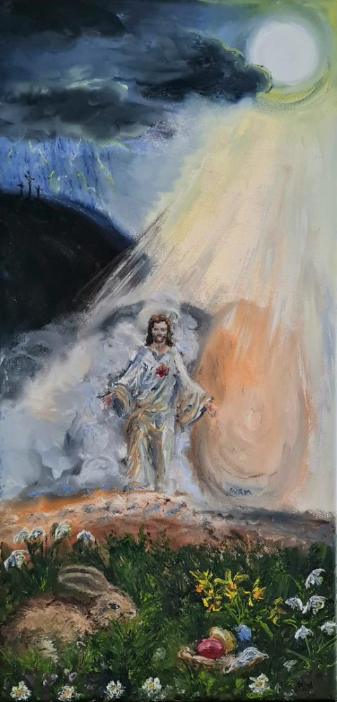 Ostern, Jesus, Erlösung, Auferstehung, Osterhase, Ostereier, Golgotha